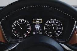 This photo provided by Subaru shows the driver attention monitor in the 2020 Subaru Legacy. It displays this warning when it detects the driver is not paying attention to the road