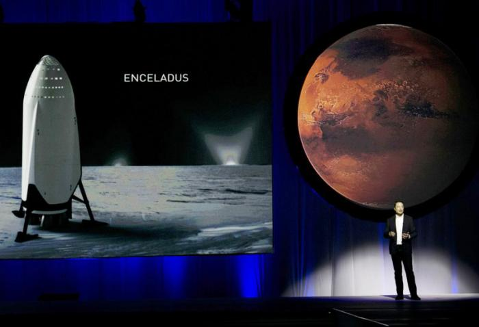 In this Tuesday, Sept. 27, 2016 file photo, SpaceX founder Elon Musk speaks during the 67th International Astronautical Congress in Guadalajara, Mexico