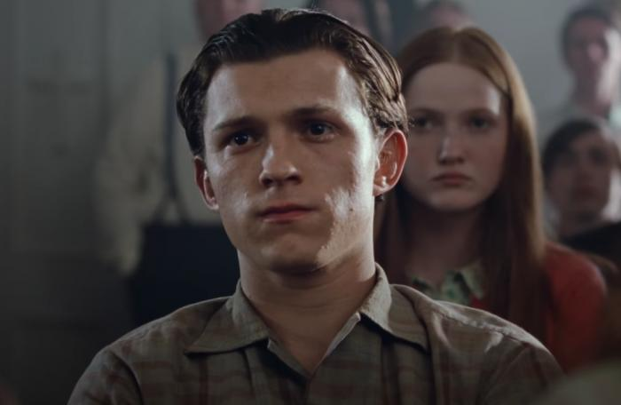 "Tom Holland in the trailer for ""The Devil All the Time."""