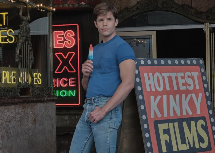 """Charlie Carver as Cowboy in a scene from Netflix's """"The Boys in the Band."""""""