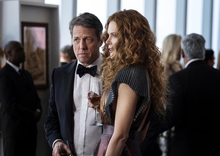 "Hugh Grant, left, and Nicole Kidman in a scene from ""The Undoing."""
