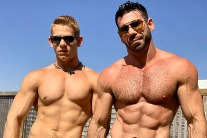 Billy Santoro (right) and his husband Gage