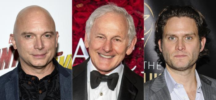 "From left, Michael Cerveris, Victor Garber and Steven Pasquale, who will participate in the dark musical ""Assassins,"" for a streaming fundraising event."