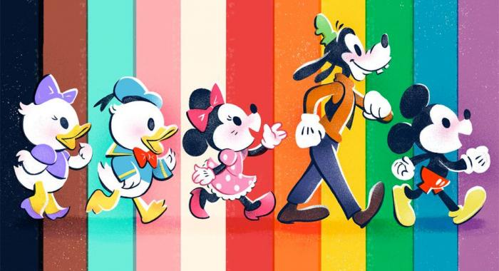 A graphic Disney posted in their tweet honoring Pride.