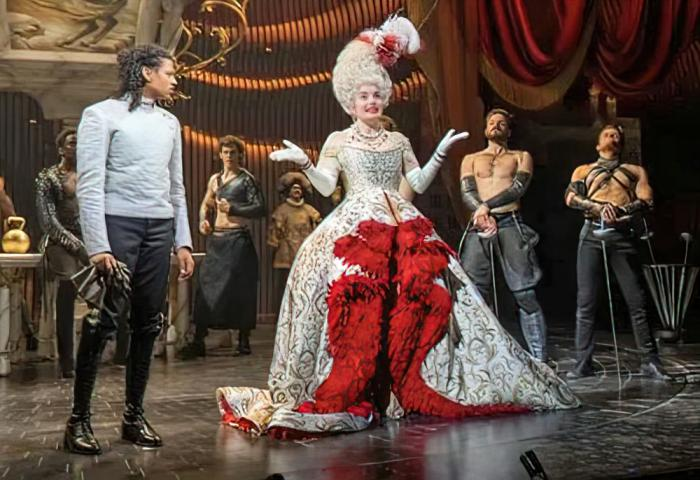 """Ivano Turco and Rebecca Trehearn in the Andrew Lloyd Webber's new version of """"Cinderella,"""" currently in the West End."""