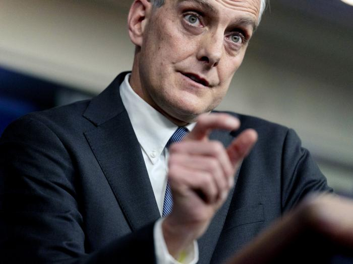 In this March 4, 2021 file photo, Veterans Affairs Secretary Denis McDonough speaks during a press briefing at the White House in Washington
