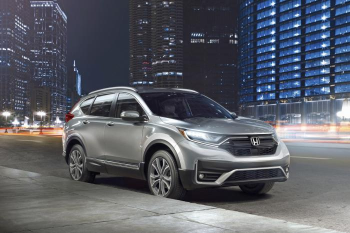 This photo provided by American Honda Motor Co. shows the 2022 Honda CR-V, one of the leaders in the compact SUV class.